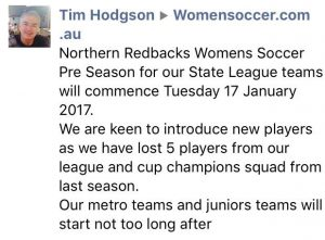 Northern Redbacks FC