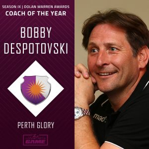 Bobby Despotovski WLeague Coach of The Year