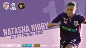 Tash Rigby 2017 Coaches Award Perth Glory